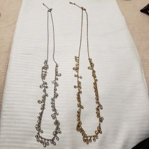 Bananna Republic Silver and Gold Necklaces